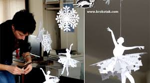 how to paper snowflake ballerina make
