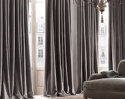 Pewter Curtains Velvet Curtains Etsy