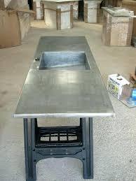plan de travail cuisine en zinc evier cuisine gris anthracite plan de travail de cuisine en zinc