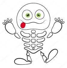 halloween skeleton monster vector u2014 stock vector baavli 32531699
