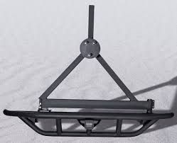 Rugged Ridge Tire Carrier Rugged Ridge Rock Crawling Rear Tube Bumper