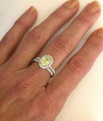 yellow engagement rings diamond halo yellow sapphire rings gr 5968