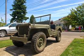 ford military jeep old parked cars three jeeps deep 1942 ford gpw