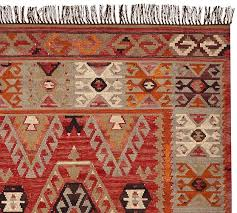 Pottery Barn Kilim Pillow Cover Cyndy Kilim Recycled Yarn Indoor Outdoor Rug Pottery Barn