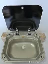 caravan sink with lid 2018 boat rv caravan cer rectangular stainless steel hand wash