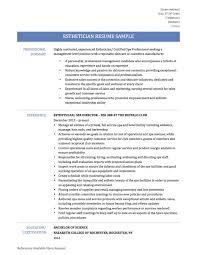 esthetician resume templates resume international relations