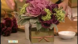 video how to make a flower arrangement martha stewart
