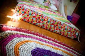 Rag Rug Directions House Interior With Colorful Shag Rag Rug Instructions To Make