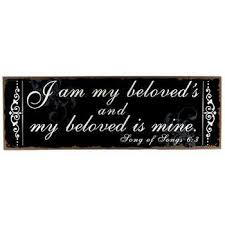 i am my beloved i am my beloved s my beloved is mine wall sign gift