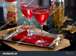 christmas martini cocktail christmas vodka infused candy cane stock photo 227939056