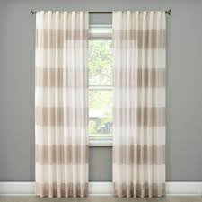 Sheer Metallic Curtains Metallic Rugy Stripe Sheer Curtain Panel Gold 54 X108