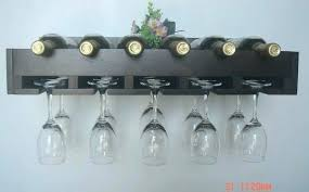 Wall Mounted Bakers Rack Wall Mounted Wine Glass Rack Target Hanging Wood Bar Creative
