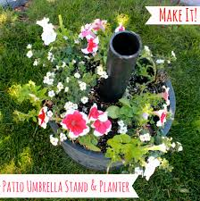 Diy Patio Umbrella Stand Diy Umbrella Stand And Planter