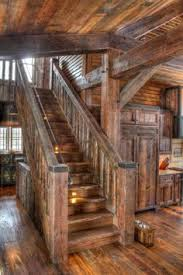 wood home interiors cool but not safe stairs staircases cabin