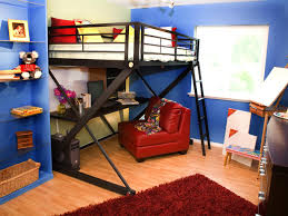Stylish Kids Bunk Beds Full Size Bunk Beds Red Leather Chair - Loft style bunk beds