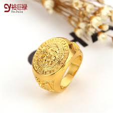 gold metal rings images 2017 hip hop lion ring gold men high quality gold metal bling jpg