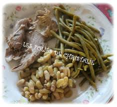 cuisiner les flageolets epaule d agneau et flageolets les folies de christalie ou