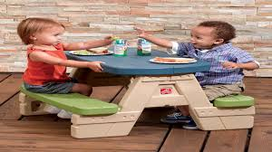 Little Tikes Fold And Store Picnic Table Manual by Step2 Sit And Play Picnic Table With Umbrella Youtube