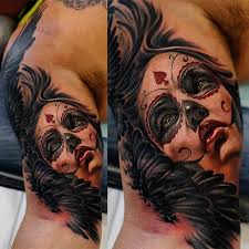 day of the dead tattoo by khan youtube