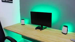 make any desk set up awesome led lights