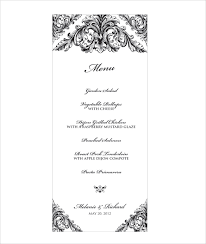 wedding menu templates wedding menu template 28 in pdf psd word vector