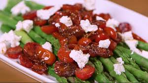 asparagus with balsamic tomatoes recipe myrecipes