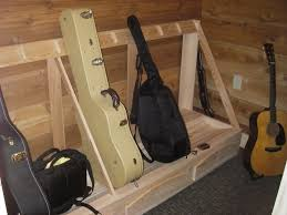 Diy Wood Storage Shelf Plans by Guitar Case Storage Rack Diy Pinterest Guitar Case Storage