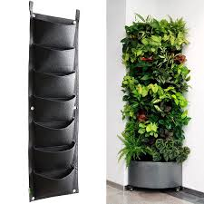 where to buy large planters amazon com koram 7 pockets vertical garden wall planter living