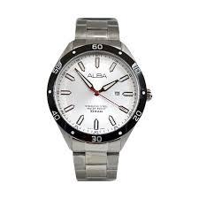 Jam Tangan Alba Putih harga alba at2019 rbp tali logam jam tangan pria pricenia