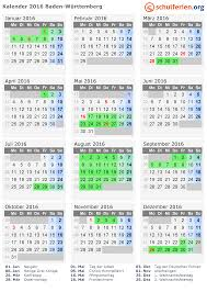 Baden Wuttemberg Kalender 2016 Ferien Baden Württemberg Feiertage