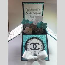 Sweet 16 Invitation Cards 10 3d Card In A Box Tiffany Chanel Designer Sweet 16 Quinceañera
