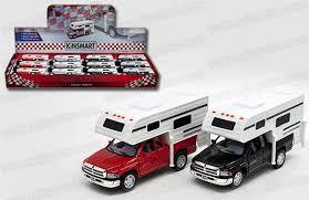dodge ram toys kinsmart 1 46 display dodge ram truck camper mj toys inc