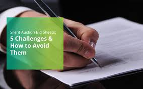 silent auction bid sheets 5 challenges u0026 how to avoid them bidpal