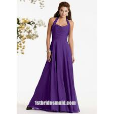 halter bridesmaid dresses halter top chiffon ruched purple bridesmaid dresses