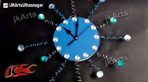 Designer Wall Clock Diy Designer Wall Clock How To Make Jk Arts 483 Youtube