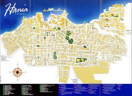 crete maps print maps of crete map of chania or heraklion