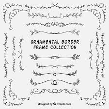 set of ornamental borders with leaves vector free