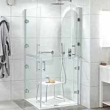 ambulant twin hinged shower door 900mm