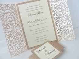 wedding invitations laser cut fairytale
