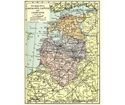Baltic States Map Baltic States 1923 Vintage Map For Instant Printable Digital