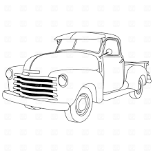old cars drawings old american pick up truck vector clipart image 1047 u2013 rfclipart