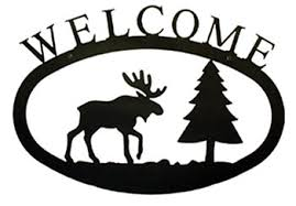 rustic cabin welcome plaques