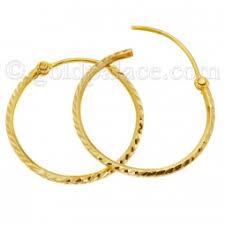 hoops earrings gold hoop earrings for women 22 k goldpalace