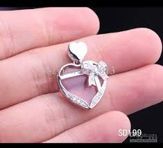 necklace charm designs images Wholesale 925 sterling silver pendant charm for necklace 25mm jpg