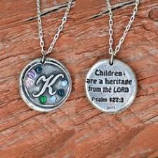 Mom Necklaces With Children S Names Monogram Necklace With Children U0027s Names Surrounding Monogram Or
