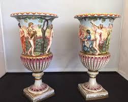 Capodimonte Vases Antique Capodimonte Urns Etsy
