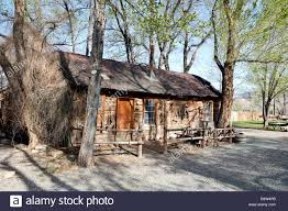 log home styles old pioneer style log cabin in utah usa stock photo royalty free