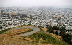 San Francisco Fog Map by Twin Peaks San Francisco A Bike Ride To The Best View In Central Sf
