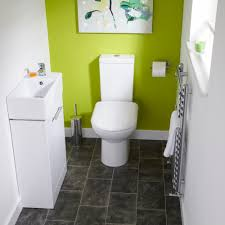 bigbathroomshop milos white gloss cloakroom suite toilets