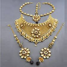 double necklace set images Shop sai raj kundan copper double necklace set with maang tikka jpg